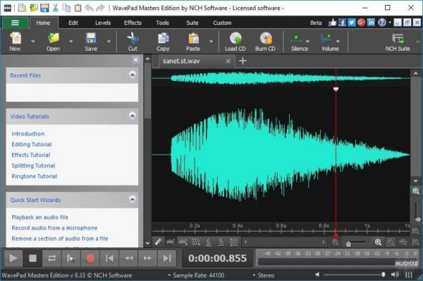 WavePad Sound Editor Masters 12.60 Crack